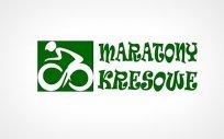 Logo zawodów, tj. człowiek na rowerze z napisem Maratony Kresowe